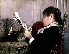 Gustave Cailebotte (French artist, 1848–1894), Woman Reading 1880