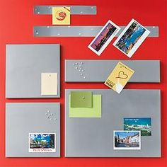 Have 2 large magnetic bulletin boards. The Container Store  Magnetic Bulletboard by Umbra®