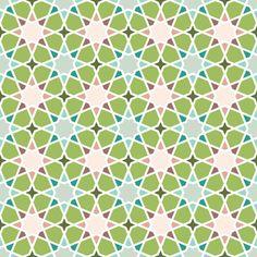 octagonal oolong stars fabric by sef on Spoonflower - custom fabric