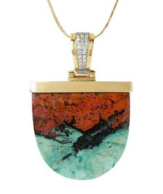 Fire & Ice Agate Pendant - Mark Schneider Design