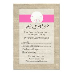 >>>Are you looking for          	Hot Pink Burlap Sand Dollar Beach R.S.V.P Cards           	Hot Pink Burlap Sand Dollar Beach R.S.V.P Cards We have the best promotion for you and if you are interested in the related item or need more information reviews from the x customer who are own of them be...Cleck Hot Deals >>> http://www.zazzle.com/hot_pink_burlap_sand_dollar_beach_r_s_v_p_cards-161260605104269805?rf=238627982471231924&zbar=1&tc=terrest