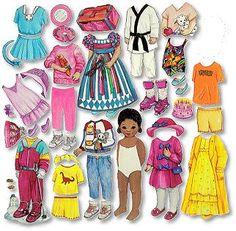 Keisha - muñeca de fieltro afroamericano