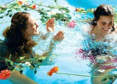 Swimming with Flowers