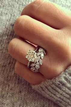 10 Fresh Engagement Ring Trends For 2018 engagement ring trends yellow diamond ring unique band pave See more: #weddingforward #wedding #bride #engagementrings Eengagementringstrends