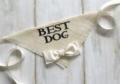 Best Dog - Wedding Dog Bandana with Bowtie