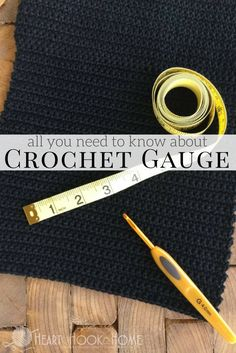 How to Crochet: Understanding Crochet Gauge and How to Measure Gauge Checking your crochet gauge makes all the difference. Do you crochet tight or loose? Do you know what the difference is and how to check? Here's how! Crochet 101, Crochet Basics, Learn To Crochet, Crochet Hooks, Beginner Crochet, Crochet Summer, Crochet Stitches Patterns, Crochet Patterns For Beginners, Stitch Patterns