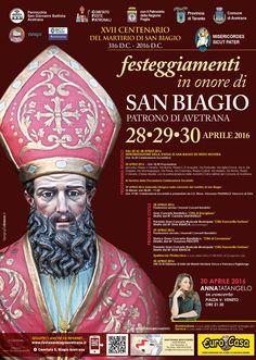 """<span style=""""color: #800000;"""">28-29-30- aprile 2016</span> - Il Comitato feste Patronali San Biagio di Avetrana organizza una tre giorni in onore del <span style=""""color: #ff0000;"""">Santo Patrono San Biagio</span>."""