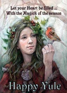 HERBS OF YULE:  Bayberry, blessed thistle, evergreen, frankincense holly, laurel, mistletoe, oak, pine, sage, yellow cedar.