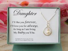 Daughter gift sterling silver Infinity necklace by SilverStamped
