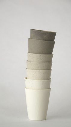 unglazed ceramic cups