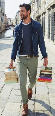 JCrew's got it right. Men in snazzy clothing, AND is a reader? Hold on, we gotta catch our breaths.
