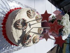 4th of July Party with recipes, and free printable cake decorations