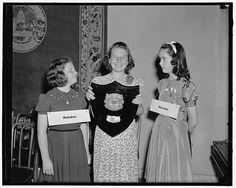 """[Children with plaque """"The Courier-Journal Spelling Bee; Trophy 1940""""] Winner women girls"""
