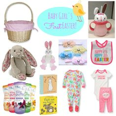 Baby Girl's First Easter Basket Ideas (with links for purchasing!)