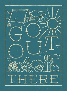 Go out there Lettering by WEAREYAWN in Typography