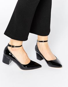 Image 1 ofTruffle Collection Molly Ankle Strap Mid Heeled Shoes
