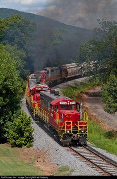 RailPictures.Net Photo: GNRR 8705 Georgia Northeastern EMD GP18 at Marietta, Georgia by Brad Kindschy