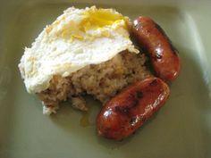 Longanisa, Fried Rice, and Eggs