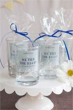 Shot Glass Favor Ideas | Evermine Weddings | http://evermine.com