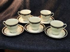 Pins are fun, but holding it in your hands is even better!  Click on the picture to find out how you can have this in your home by the weekend! Noritake Ivory China Etienne 7260 Tea Cup & Saucer sets - FIVE - MINT! #Noritake
