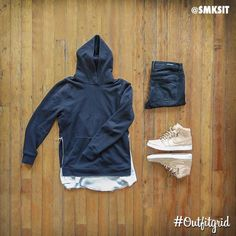 Today's top #outfitgrid is by @smksit. ▫️#JohnElliottCo #Hoodie ▫️#Knyew #Tee…