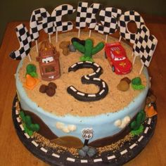 Disney Cars 2- 3rd Birthday cake