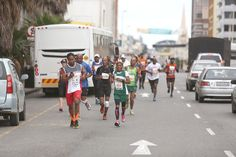 OCTOBER 03, 2015 Runners make their way along Oxford Street during the Legends Marathon in East London on Saturday Picture: MARK PHOTO GALLERY: Early push in Legends Marathon brings gold for Makaza | DispatchLIVE
