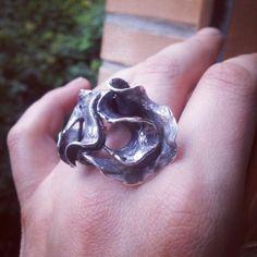 Hoja#Ag#925#patinada#anillo#anel#