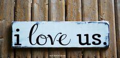 Wedding Sign Rustic Wood Signage Decor Engagement Wedding Gift Christmas Present Spouse Married Marriage Husband Wife Family Children Master Bedroom Home Decorations Sweetheart Table Anniversary Bride Groom Fiance Boyfriend Girlfriend  I Love Us Quote Wooden Plaque Reclaimed