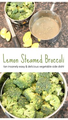 Lemon Steamed Broccoli ~ so easy and the lemon infusion really makes this delicious vegetable side dish pop! | 5DollarDinners.com