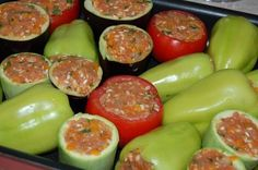 Sausage, Food And Drink, Appetizers, Stuffed Peppers, Foods, Cookies, Meat, Vegetables, Romania