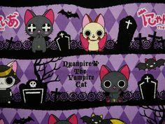 Vampire Cats Fabric