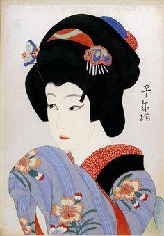 Artist Toyonari Yamamura   Ichikawa Shocho as Oman, Yamamura Toyonari