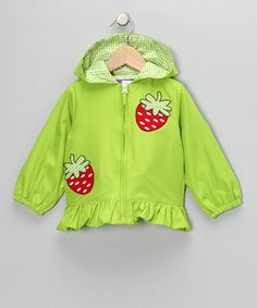 Love this Lime Hooded Ruffle Jacket - Infant & Toddler on #zulily! #zulilyfinds