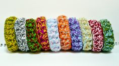 DIY Crochet Craft Kits for making these lovely bracelets are on sale here:  http://Melbangel.etsy.com
