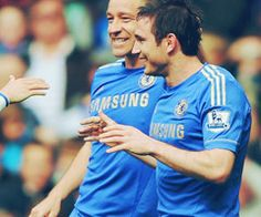 Two legends :) Frank Lampard and John Terry.