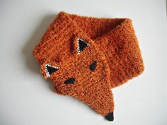 Happy Fox Scarf Orange, Unique  gift , 3D Animal Costume,Children gift ,  Faux Fur, Funny and Furry. $58.00, via Etsy.