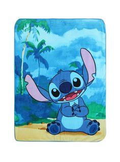 Disney Lilo And Stitch Alien 626 Super Soft Plush Throw Blanket Warm Cuddly New #Disney