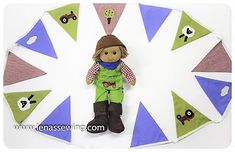Add that extra finishing touch to a lovely bedroom with our Farmer Bunting. Running across the ceiling or hung it on a wall. It will look great! Look for our farmer Quilt & Cushion Set. Rag Dolls, Bunting, Farmer, Cushions, Kids Rugs, Ceiling, Touch, Quilts, Bedroom