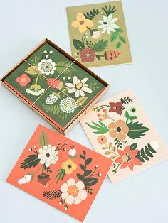 Folk cards. My kind of colour palette too.