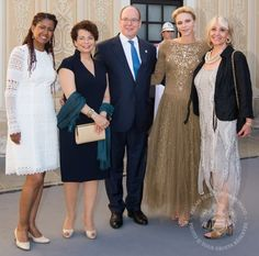 Princess Charlene and Prince Albert held a reception for Tv Festival