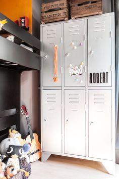 old locker  in boy's room