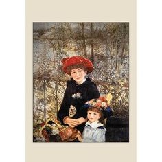 Buyenlarge 'On the Terrace' by Renoir Painting Print