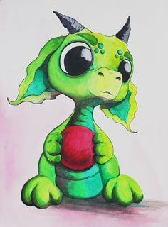 Lime green Bitty Baby Dragon Throw Pillow by Bitty Bitey Ones Baby Dragon Tattoos, Cute Dragon Drawing, Dragon Nursery, Dragon Comic, Celtic Dragon, Celtic Art, Fantasy Drawings, Fantasy Art, Baby Drawing
