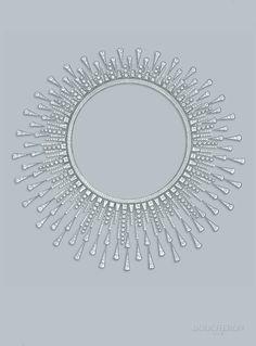 Le gouaché du collier Soleil Radiant - The Soleil Radiant necklace drawing- Boucheron