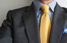 YELLOW KNITTED // men's fashion blog