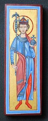 Icon of Saint Oswald painted by Marchela Dimitrova