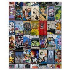 Graffiti Collage Puzzle on CafePress.com