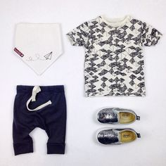 #ootd featuring the newly restocked #bookhouforminimioche tee, crop harems, bandana bib and #oldsoles slip-ons