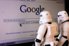 The stormtroopers look up the answer on Google
